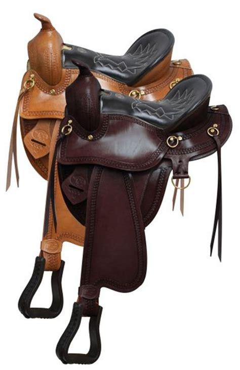 saddles horse saddle gaited horses double tack leather seat western quarter stirrup grain royal hay light dixieland brown bars semi