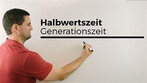 Exponentielles Wachstum Berechnen : generationszeit halbwertszeit exponentialfunktionen mathe by daniel jung youtube ~ Themetempest.com Abrechnung