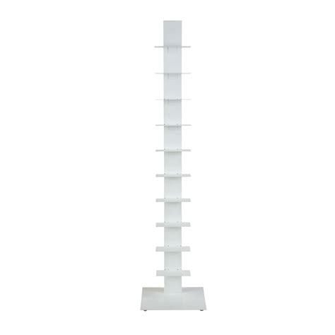 Bookcase Tower by Eurostyle Sapiens 60 Inch Bookcase Tower In White 94200wht