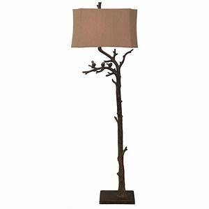 style craft fl8994 branch bird 62h inch jasper bronze With bronze branch floor lamp
