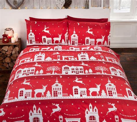 1 persoons dekbed flanel 1 persoons dekbedovertrek kerst rood met rendieren flanel