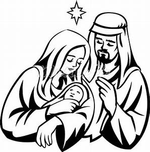 Christmas clipart jesus birth - Pencil and in color ...