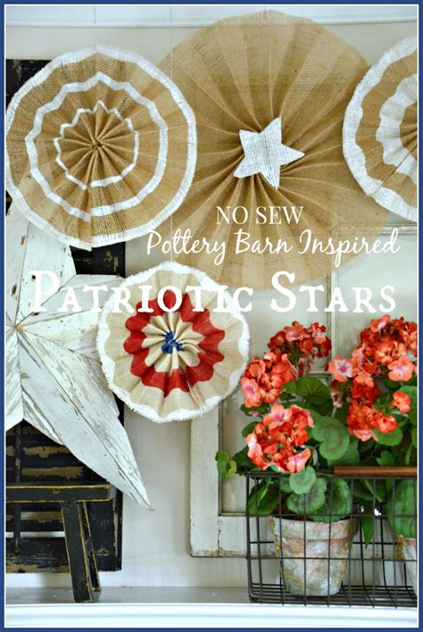 Pottery Barn Inspired by No Sew Pottery Barn Inspired Patriotic Stonegable