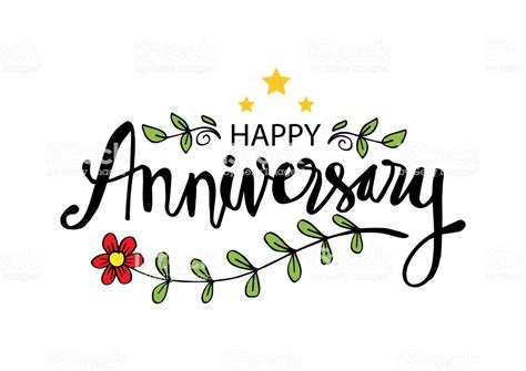 happy anniversary greeting card stock illustration