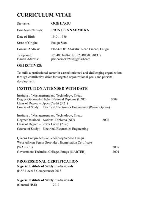 curriculum vitae a copy of curriculum vitae