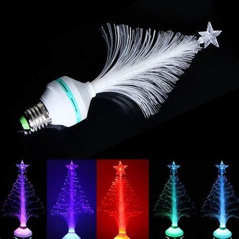 e27 led rgb fiber optical stage light tree home