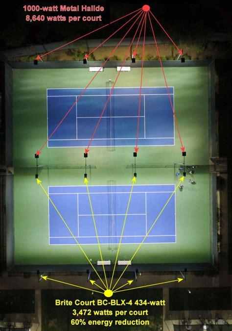 brite court tennis lighting led tennis lighting  indoor outdoor tennis courts