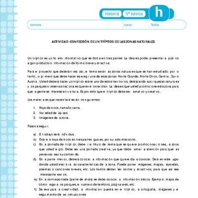 zonas naturales A Curriculum Nacional MINEDUC Chile