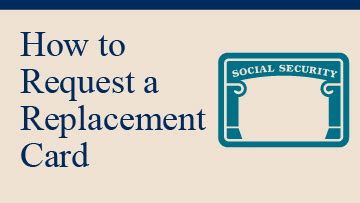 Social security card (ssc) how to obtain a social security number. Replacement Card | SSA