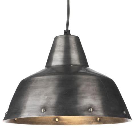 Fatto Suspension Lumineuse En Métal 27cm Industriel