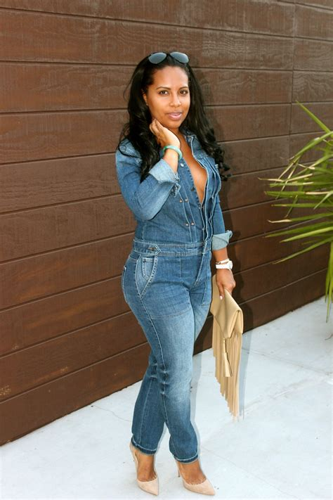 Black women blogs denim jumpsuit | Throw it on and go. | Pinterest | Denim jumpsuit Jumpsuits ...