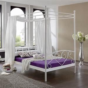 Himmel über Bett : metallbett lisa himmel bett in wei neu b 120cm ebay ~ Buech-reservation.com Haus und Dekorationen