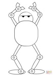 Kleurplaat Robotboy by Robot Coloring Page Free Printable Coloring Pages