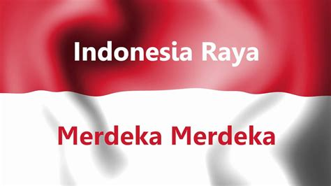 indonesia raya  intro  text youtube