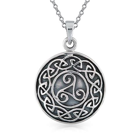 sterling silver celtic knot medallion pendant
