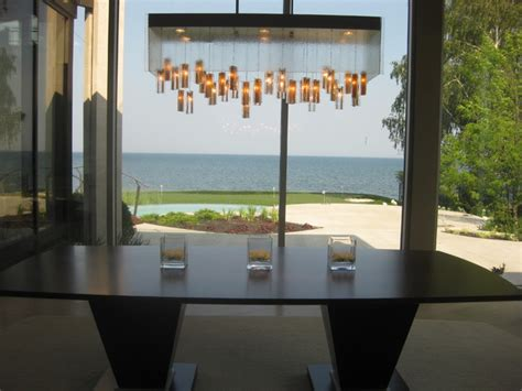mountain light fixture contemporary dining room los