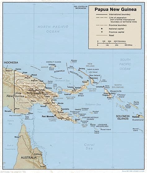 map  papua  guinea