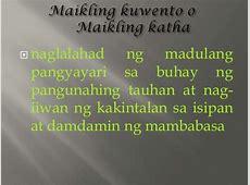Ang Kasaysayan ng Maikling Kuwento