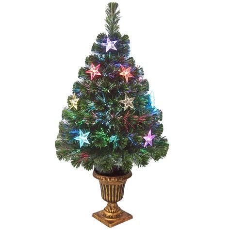 3 ft fiber optic christmas tree national tree company 3 ft fiber optic evergreen artificial tree with decoration