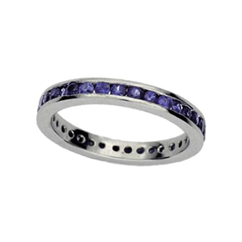 eternity channel set sapphire wedding band amore jewelry