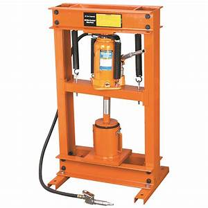 Air / Hydraulic Shop Press w/ Oil Filter Crusher