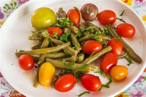 cuisiner les tomates cerises salade de haricots verts aux tomates cerises par kilometre 0