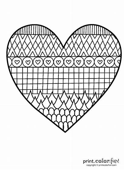Coloring Heart Patterned