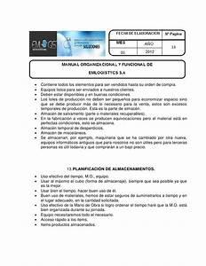 Manual Organizacional Y Funcional Emlogistycs  Quelal