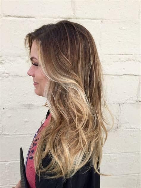 maintenance blonde hair  light blonde balayaged