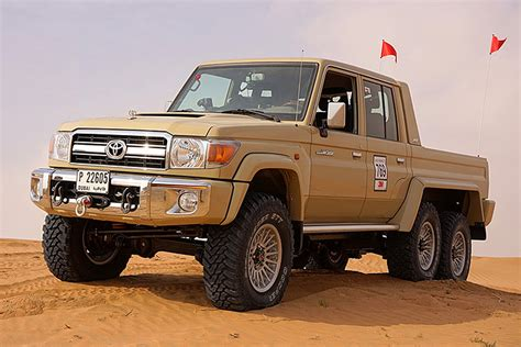land cruiser this 6x6 toyota land cruiser is a dune crushing monster