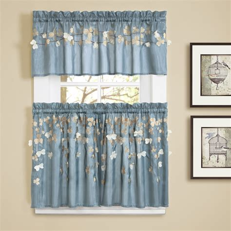 lush decor flower tailored window treatment collection
