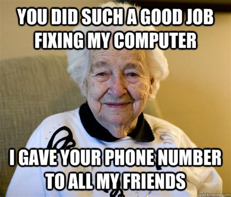 Grandma Meme Computer - image gallery old lady computer meme