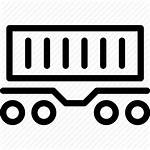 Container Railcar Icon Rail Line Industry Icons