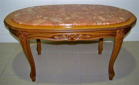 table basse ovale bois table basse ovale en bois plateau en marbre moderne haut 44 cm