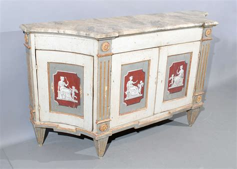 Painted Credenza by Large Italian Painted Credenza With Neoclassical Motifs At