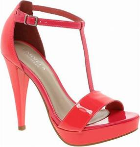 Carvela Kurt Geiger Giant Neon Strappy Sandals in Red
