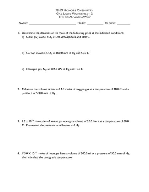 Chemistry Worksheet Category Page 2 Worksheetocom