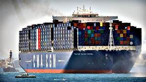 World's largest container ship in Marseille