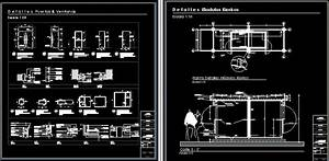 Kiosk Modules In A Shopping Center In Autocad