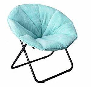 amazon com baby blue plush padded saucer chair kitchen