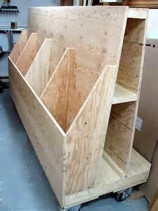 sheet goods cutoffs rack rangement pour panneaux et retailles 171 atelier du bricoleur