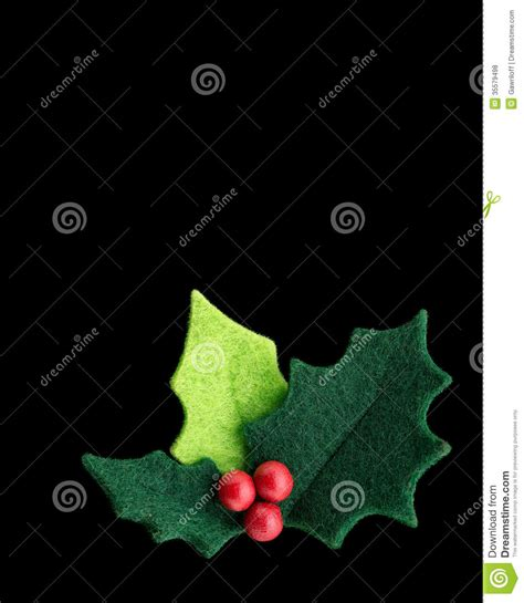 christmas holly   red berries stock illustration