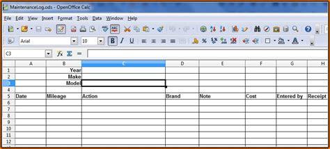 fleet vehicle maintenance log template excel template