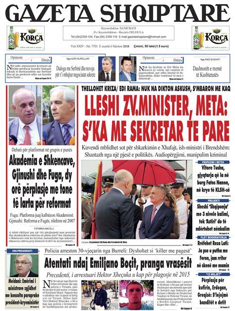 Shtypi i dites Archives - Gazeta Shqiptare Online