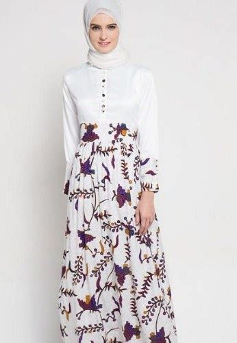model gamis motif kombinasi polos fashion modern