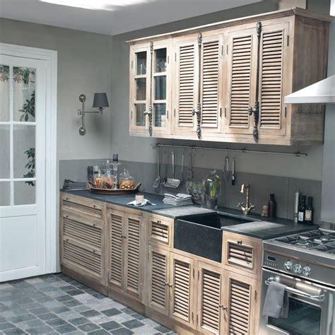 deco cuisine maison du monde cuisine meubles éléments indépendants en bois patiné ou blanc