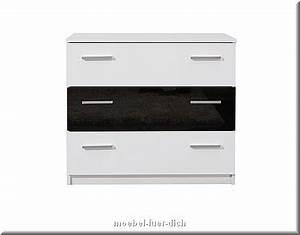Kommode Schwarz Weiß Hochglanz : komplett schlafzimmer kansas hochglanz schwarz weiss ~ Heinz-duthel.com Haus und Dekorationen