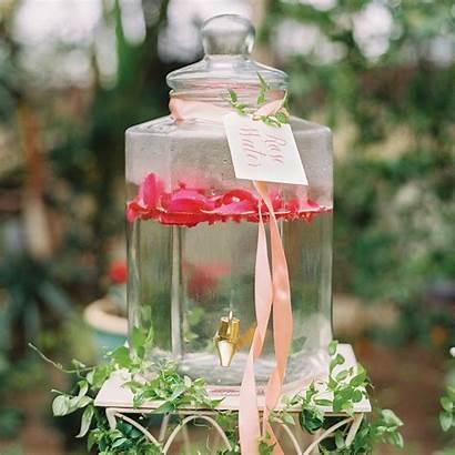Garden Romantic Shower Bridal Themed Greenery Water