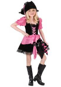 Girls Pink Punk Pirate Halloween Costume Medium 8-10