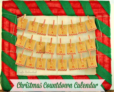 countdown calendar diy for crafts unleashed - Christmas Countdown Calendar Craft